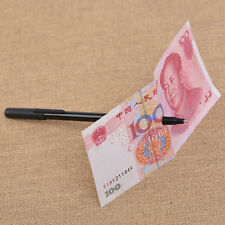 Magic Trick Ball Pen Black Magician Toy Bill Penetration Dollar Bill Pen Trick``