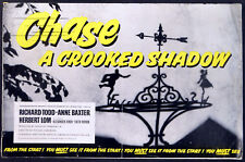 CHASE A CROOKED SHADOW 1958 Richard Todd, Anne Baxter, Herbert Lom CAMPAIGN BOOK