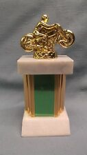 diecast motocross trophy metal column marble base