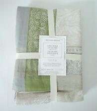 Williams Sonoma Artichoke Jacquard Cotton Linen Tablecloth 70 X1126 Moss Green