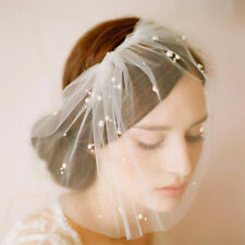 Glowish Bridal Wedding White Birdcage Wedding Face Veil Fascinator Hair Comb Wv1