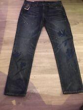 RALPH LAUREN BLUE DENIM ASTOR SLIM BOYFRIEND PRINT JEANS Size 27