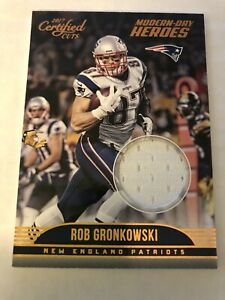 2017-Certified Cuts Rob Gronkowski Modern Day Heroes Player Worn White Jersey