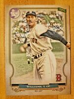 2020 Topps Gypsy Queen Extended SP Logo Swap Parallel Ted Williams #314 RARE SSP