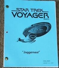 STAR Trek VOYAGER  TV SERIES SHOW SCRIPT EPISODE JUGGERNAUT