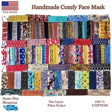 Soft Face Mask * Nose Wire * Washable Protective Reusable w Pleats Comfy USA