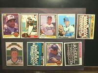 Topps-1970's-80's 7 BASEBALL CARDS -HI-END EXNM-NM+W/BRETT,OZZIE🔥FREE SHIPPING