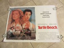 TURTLE BEACH movie poster GRETA SCACCHI poster, JOAN CHEN