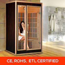 Person Far Infrared Sauna Indoor Weight Loss Slimming Skin Spa Detox Box Cabin