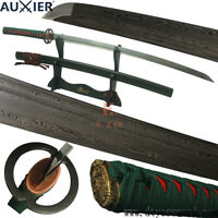 AUXIER Full Tang Damascus Steel Carbon Steel Blade Japanese Samurai Katana Sword