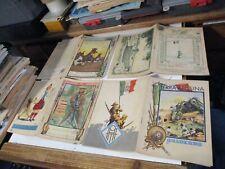 soggetto COLONIE ITALIANE - lotto 9 quaderni diversi originali anni 30