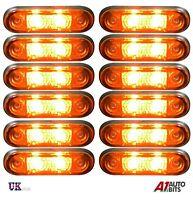 12x 24v 2 led Orange Amber Side Markers Indicator Lamps Lights Trailer Lorry