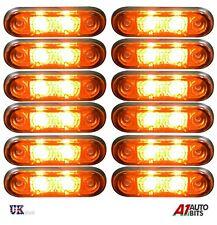 12x Flush Fit 2 Led Amber Orange Side Marker Lights Lamps 12v For Kelsa Bar