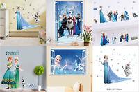 Sticker Princesse Reine des neige, Frozen, art mural amovible autocollant muraux
