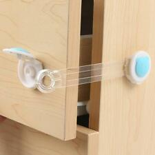Blue Child Infant Baby Kids Safety Fridge Drawer Door Cabinet Lock Latch Band UP