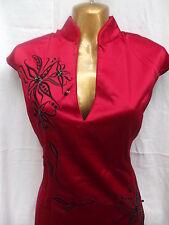 Oriental Rosso Nero Elegance Abito cinese 20 22