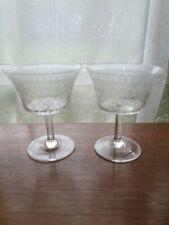 2 VINTAGE PALL MALL LADY HAMILTO WIINE GLASSES
