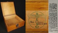 BOEING wood storage box VINTAGE excelsior AVIATION airplane 1930's PROVENANCE!