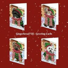 Christmas Gingerbread Elf Dog Cat Pet Photo Lovers Greeting Invitation Card