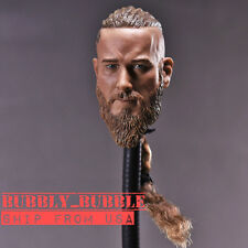 "1/6 Viking Male Head Sculpt For 12"" Hot Toys Headplay Male Figure USA IN STOCK"