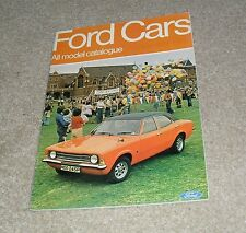 Ford Brochure 1975 - Cortina Mk3 2000E GT Estate Escort Granada Capri S Consul