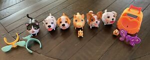 Lot of 6 Chubby Puppies With Accessories!