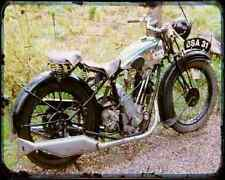 Bsa S27 Sloper A4 Metal Sign Motorbike Vintage Aged
