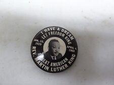 OLD RARE VINTAGE POLITICAL PINBACK BUTTON REV DOCTOR MARTIN LUTHER KING 1968
