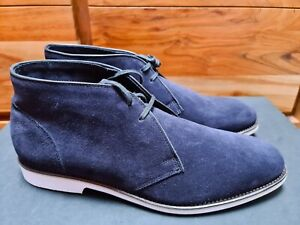 Ludwig Reiter Stiefel Chukka Boots Desert Boots Wildleder Blau UK 10.5 EU 45 NEU