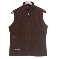 Columbia Women's Brown Full Zip Fleece Vest - Size Small
