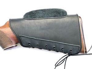 Leather Rifle  ButtStock  Butt Stock Cover Cheek Rest - Long Range Shooting