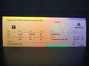 1984 Los Angeles Olympic Games Ticket > Weightlifting - 29 JUL - Levi Strauss
