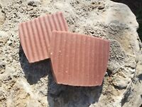 LEMON & BASIL HANDMADE ROSE CLAY LYE SOAP BARS ALL NATURAL WITH ESSENTIAL OILS 4