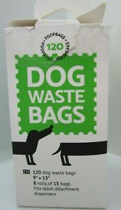 Dog Pet Waste Poop Bags Leash Refill Rolls 120 Count 8 rolls of 15 New Open Box