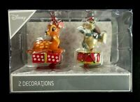 2 Disney BAMBI KLOPFER Deko Kugel Weihnachts Anhänger Baum Schmuck Ornament