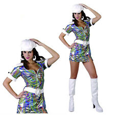 60′s 70′s Go Go Girls Disco Dancer Costume S: M-L Hippie Psychedelic Adult Dress
