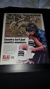 Linda Ronstadt Rare Original 570 KLAC Promo Poster Ad Framed!
