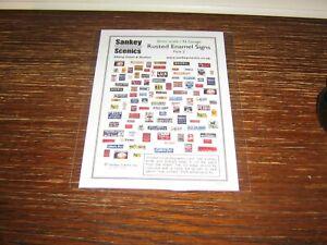 SANKEY SCENICS - RUSTED ENAMEL SIGN FRONTS - PACK 2 - 2 mm / N Gauge