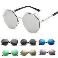 Women Retro Vintage Oversized Designer UV400 Metal Sunglasses Eyewear EyeShades