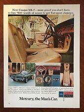 Vintage 1967 Original Print Ad MERCURY COUGAR XR-7 Man's Car of the Year