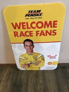 Team Penske Indy 500 Helio Castroneves Advertisement