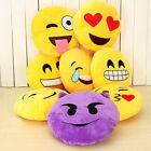 13'' Emoji Emoticon Cushion Pillow Round Yellow Stuffed Plush Soft Toy Xmas Gift