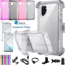For Samsung Galaxy Note 10 Plus Clear Case Cover Belt Clip With Screen Protector