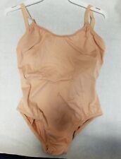 Capezio 439C Nude Girl's Medium (8-10) Adj Strap Camisole Leotard Body Liner
