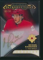 2018-19 Upper Deck Ultimate Introductions Auto RC Michael Rasmussen Onyx 02/10