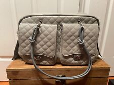 Gray Quilted Dog Carrier