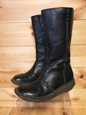 Women's Dr. Martens Black Leather Boots UK 4 10492 EU 37 Mid Calf