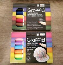 Graffiti Fabric Permanent Markers Set Of 2 NEW