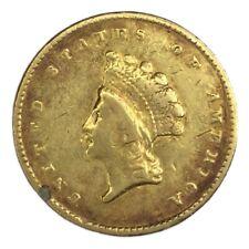 1855 $1 Type 2 Gold Indian Princess Ex Jewelry