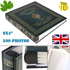 "Large Ring binder Photo Album 500 Photos Memories Design Holds 500 6x4"" Photos"